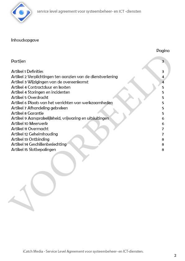 SLA iCatch Media, VOORBEELD2