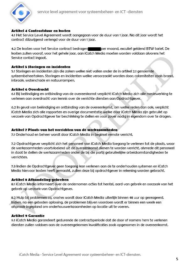 SLA iCatch Media, VOORBEELD5