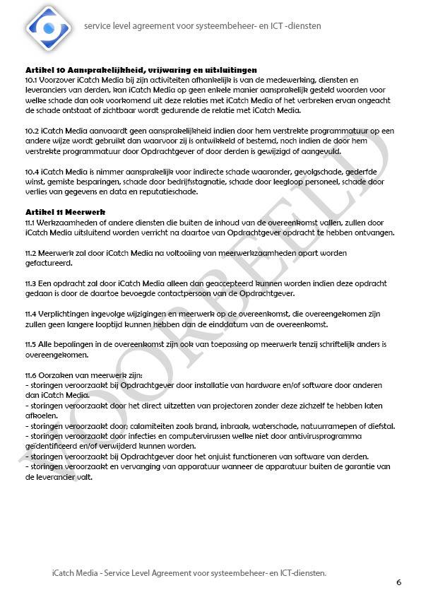 SLA iCatch Media, VOORBEELD6